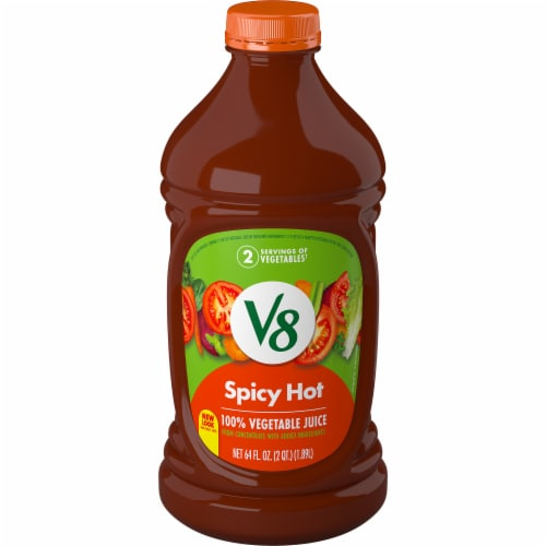 V8 Spicy Hot Vegetable Juice Perspective: front