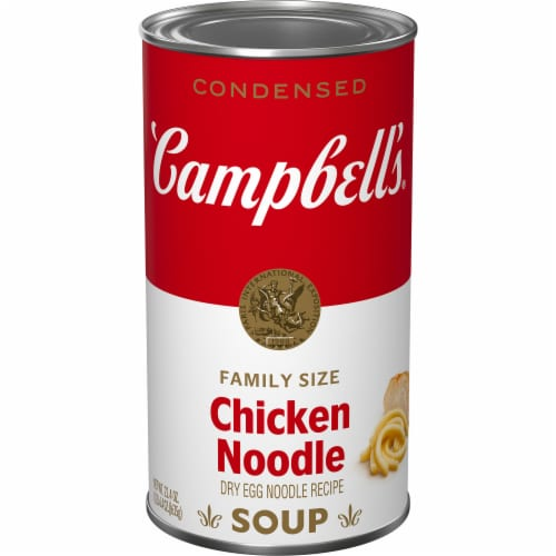 Campbell's Chicken Noodle Condensed Soup Family Size Perspective: front