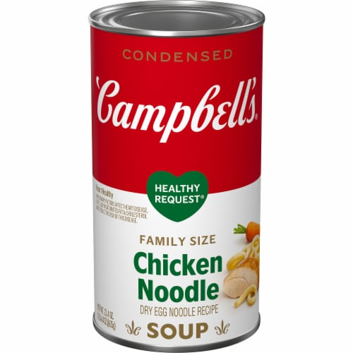 Campbell's® Condensed Healthy Request Chicken Noodle Soup Family Size Perspective: front