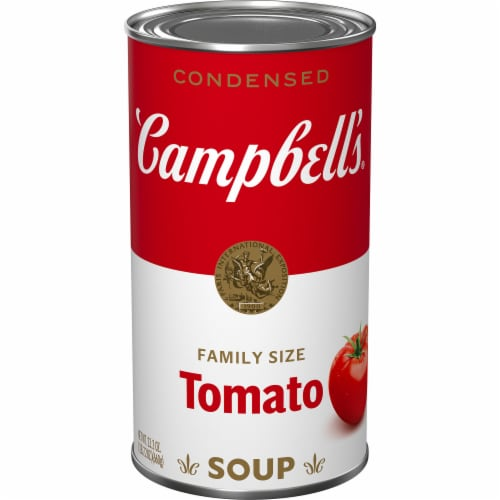 Campbell's Tomato Condensed Soup Family Size Perspective: front