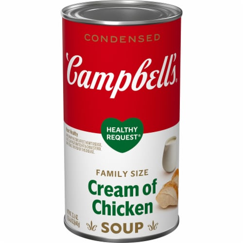 Campbell's® Healthy Request® Condensed Cream of Chicken Soup Perspective: front