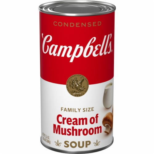 Campbell's Condensed Cream of Mushroom Soup Family Size Perspective: front