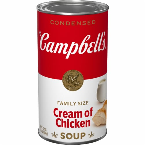 Campbell's Family Size Cream of Chicken Condensed Soup Perspective: front
