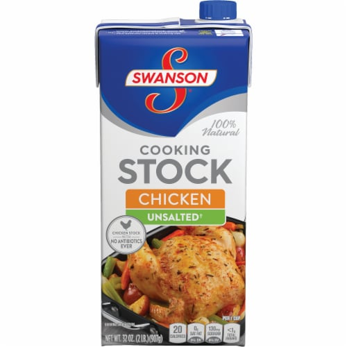 Swanson Unsalted Chicken Stock Perspective: front