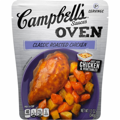 Campbell's Classic Roasted Chicken Oven Sauce Perspective: front