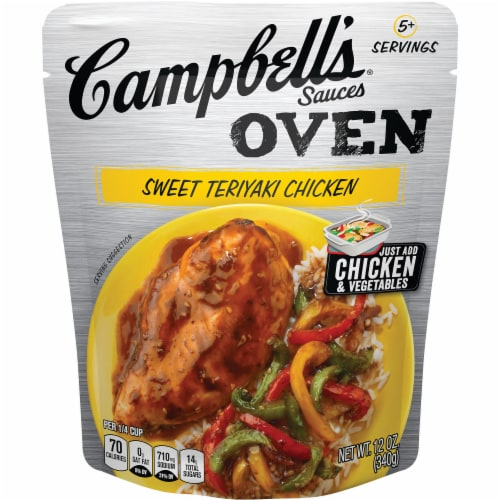 Campbell's Sweet Teriyaki Chicken Oven Sauce Perspective: front