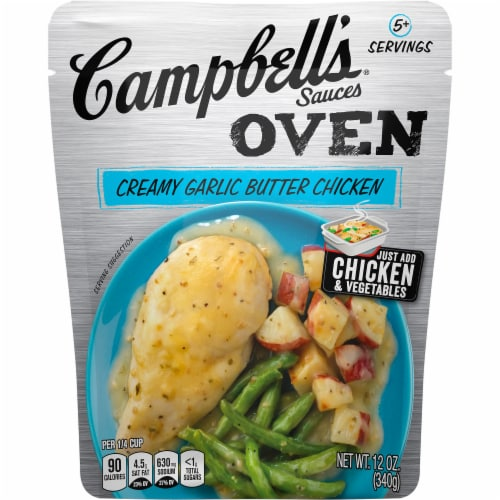 Campbell's Creamy Garlic Butter Chicken Oven Sauce Perspective: front