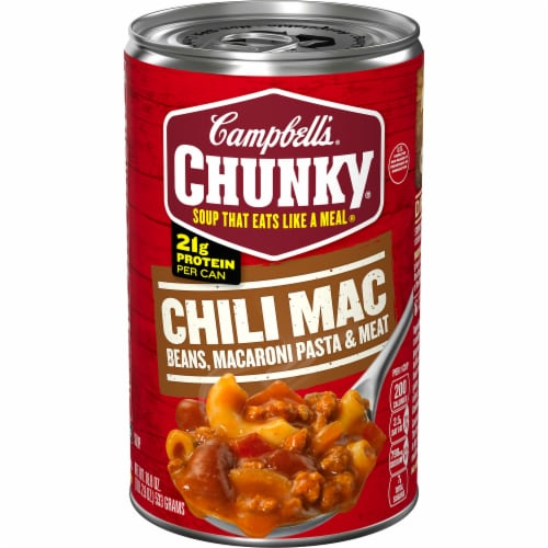 Campbell's Chunky Chili Mac Soup Perspective: front