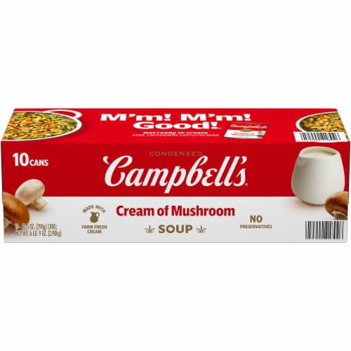 Campbell's® Condensed Cream of Mushroom Soup Perspective: front