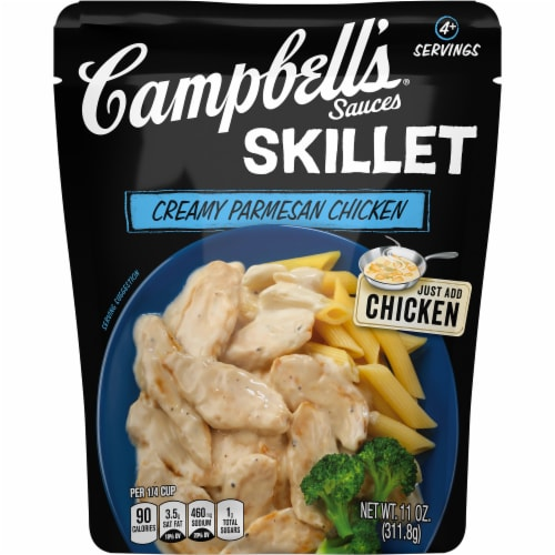 Campbell's Creamy Parmesan Chicken Skillet Sauce Perspective: front