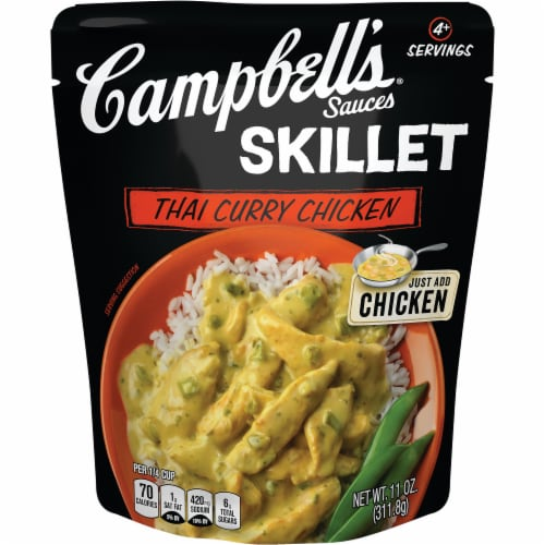 Campbell's Skillet Thai Curry Chicken Sauce Perspective: front