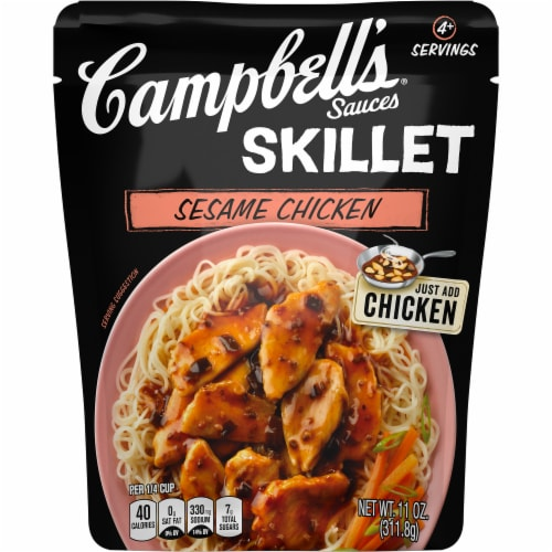 Campbell's Sesame Chicken Skillet Sauce Perspective: front