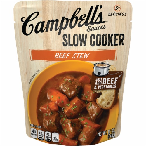 Campbell's Beef Stew Slow Cooker Sauce Perspective: front