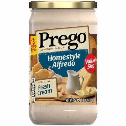 Prego Homestyle Alfredo Sauce Perspective: front