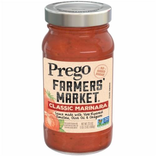 Prego Farmers' Market Classic Marinara Pasta Sauce Perspective: front