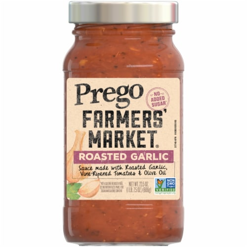 Prego Farmers' Market Roasted Garlic Sauce Perspective: front
