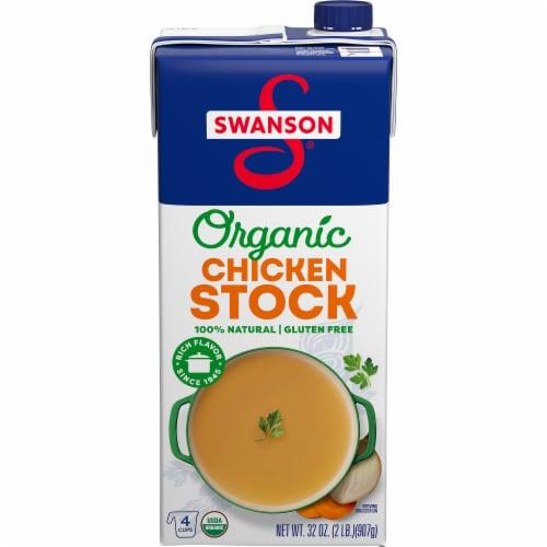 Swanson Organic Free Range Chicken Stock Perspective: front