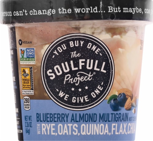 The Soulfull Project Blueberry Almond Multigrain Hot Cereal Perspective: front