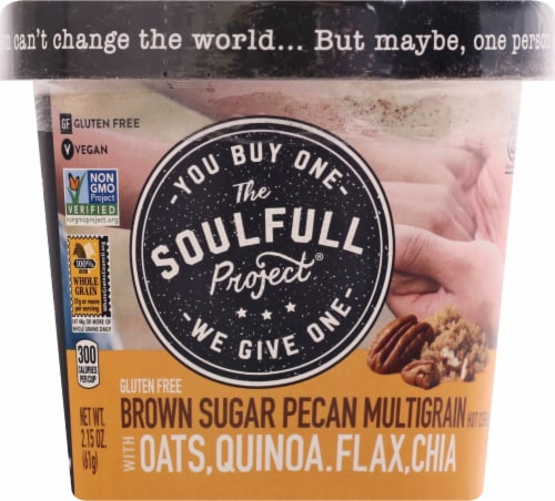 The Soulfull Project Brown Sugar Pecan Multigrain Hot Cereal Perspective: front