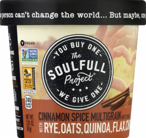 The Soulfull Project Cinnamon Spice Multigrain Hot Cereal Perspective: front