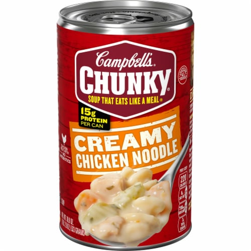 Campbell's Chunky Creamy Chicken Noodle Soup Perspective: front