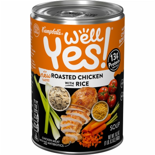 Campbell's Well Yes! Roasted Chicken with Rice Soup Perspective: front