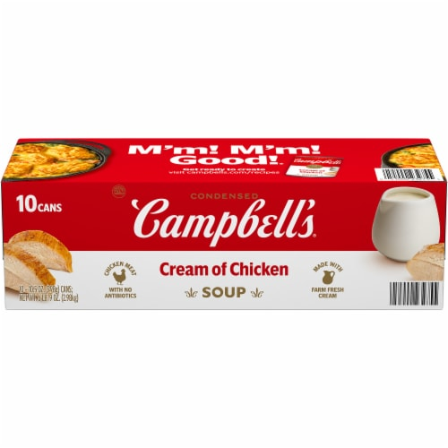 Campbell's Condensed Cream of Chicken Soup Perspective: front