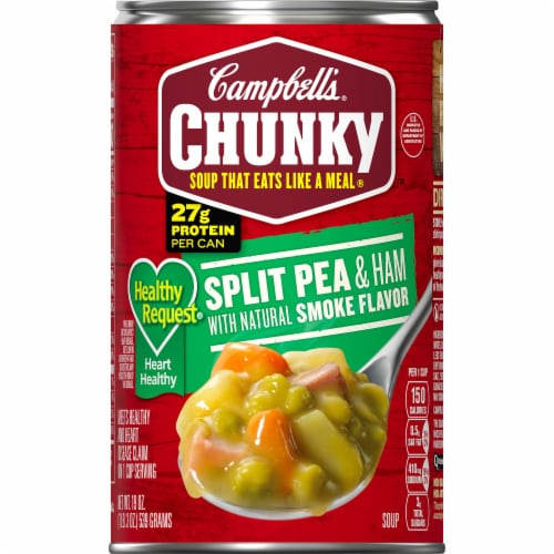 Campbell's Chunky Healthy Request Split Pea & Ham Soup Perspective: front