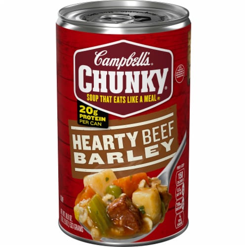 Campbell's Chunky Hearty Beef Barley Soup Perspective: front