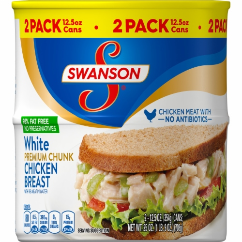 Swanson White Premium Chunk Canned Chicken Breast Perspective: front