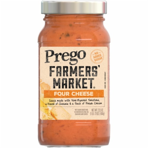 Prego Farmers' Market Four Cheese Sauce Perspective: front