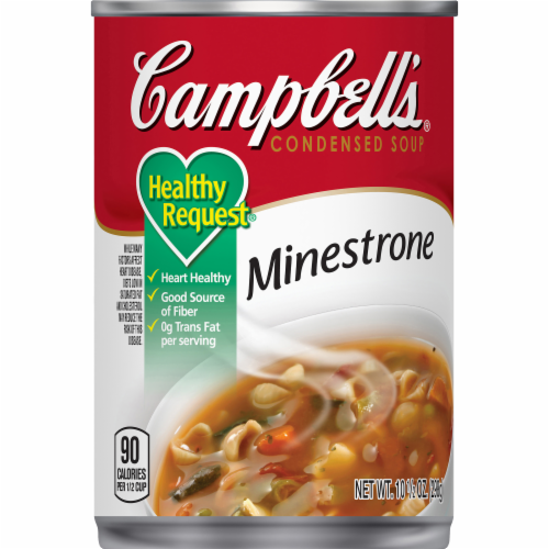 Campbell's Healthy Request Minestrone Condensed Soup Perspective: front