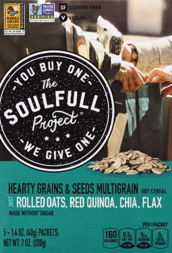 The Soulfull Project Hearty Grains & Seeds Hot Cereal Perspective: front