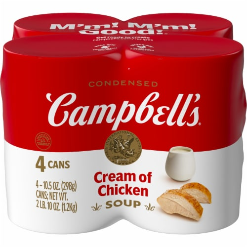Campbell's Cream of Chicken Condensed Soup Perspective: front