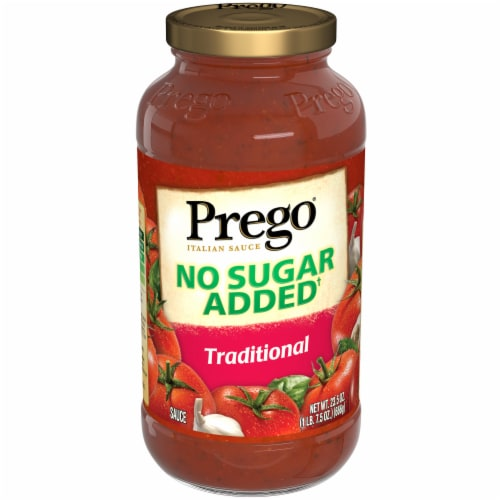 Prego No Sugar Added Traditional Italian Sauce Perspective: front