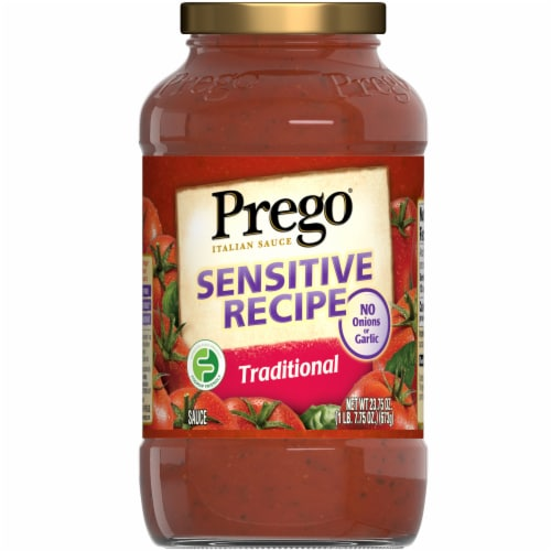 Prego Sensitive Recipe Traditional Italian Sauce Perspective: front