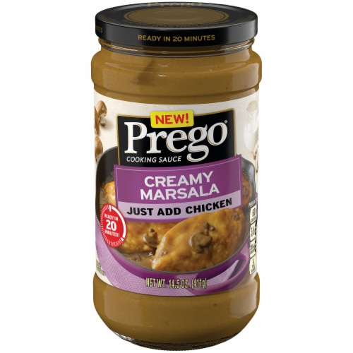 Prego Creamy Marsala Cooking Sauce Perspective: front