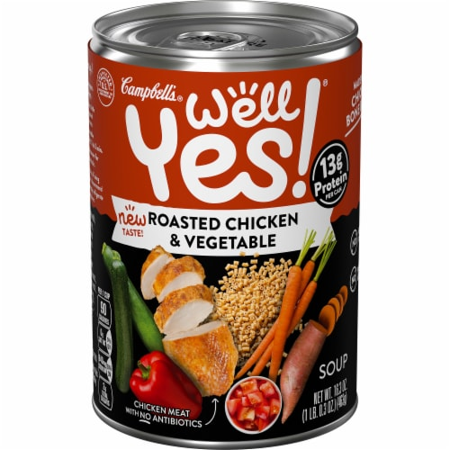Campbell's Well Yes! Roasted Chicken Vegetable Soup Perspective: front