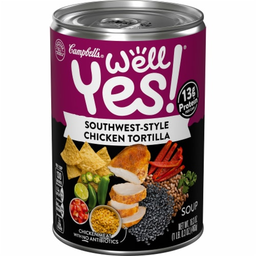 Campbell's Well Yes! Southwest-Style Chicken Tortilla Soup Perspective: front