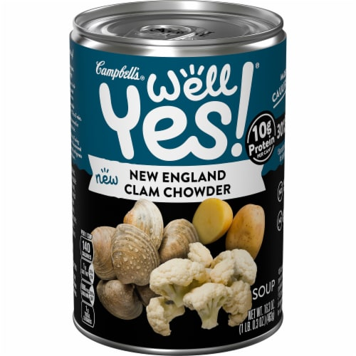 Campbell's Well Yes! New England Clam Chowder Soup Perspective: front