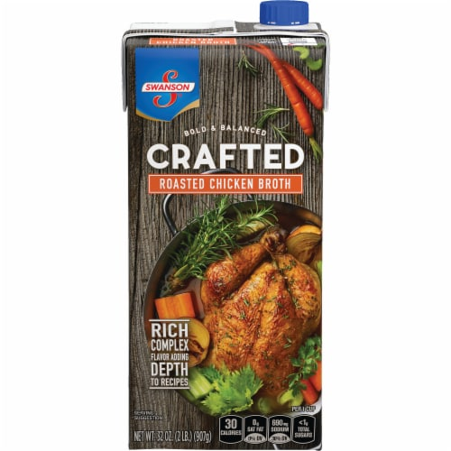 Swanson Crafted Roasted Chicken Broth Perspective: front