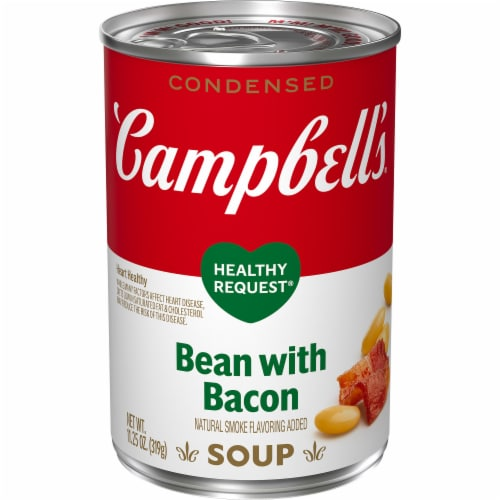 Campbell's Healthy Request Bean with Bacon Condensed Soup Perspective: front