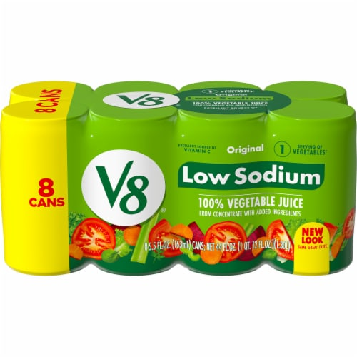 V8 Original Low Sodium Vegetable Juice Perspective: front