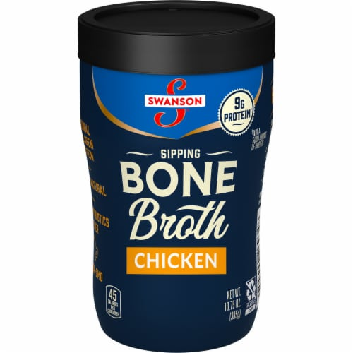 Swanson Sipping Chicken Bone Broth Perspective: front