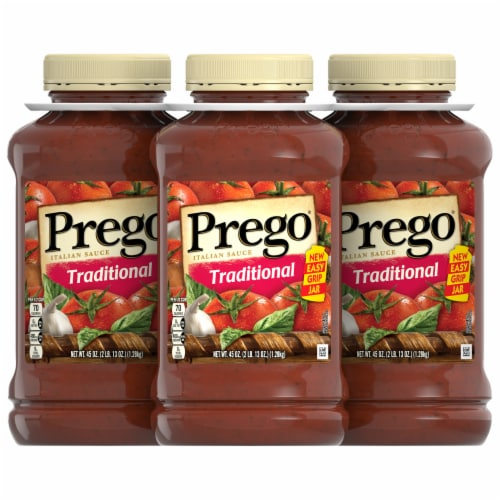 Prego Traditional Italian Pasta Sauce Perspective: front