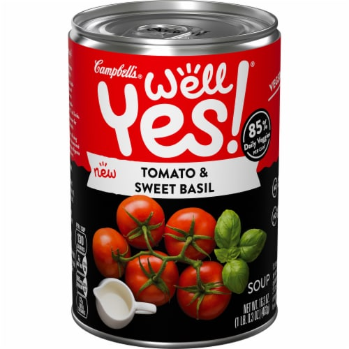 Campbell's® Well Yes! Tomato & Sweet Basil Soup Perspective: front