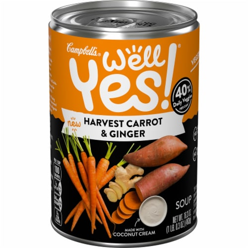 Campbell's Well Yes Soup Carrot Ginger Perspective: front