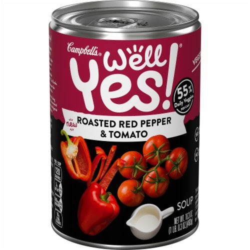Campbell's Well Yes! Roasted Red Pepper & Tomato Soup Perspective: front