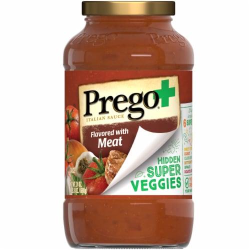 Prego Plus Super Hidden Veggies Meat Flavored Sauce Perspective: front