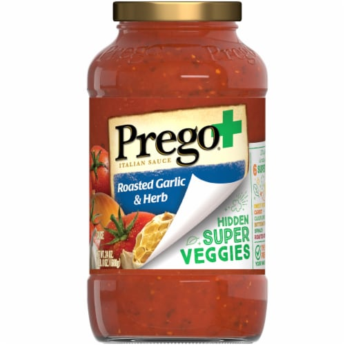 Prego Plus Super Hidden Veggies Roasted Garlic & Herb Flavored Pasta Sauce Perspective: front